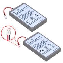 Bateria para sony ps4 pro slim bluetooth, 2x2000mah, substituição de bateria para controlador dualshock, segunda geração CUH-ZCT2 ou CUH-ZCT2U