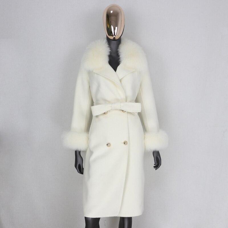 H5c074651486240a5b7826e355c8dba29e 2021X-Long Natural Mongolia Sheep Real Fur Coat Autumn Winter Jacket Women Double Breasted Belt Wool Blends Overcoat Streetwea