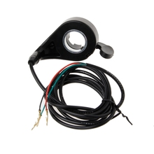Universal Motorcycle E-Bike Scooter7/8 Handlebar Black Thumb Throttle Electric Bike Scooter 24/36/48V