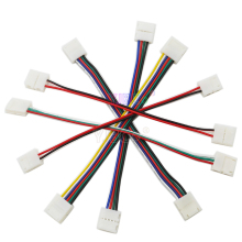 5pcs 2pin 3pin 4pin 5pin 6pin Welding free connector clip Connector Cable For RGB RGBW RGBWW LED strip light led lamp tape