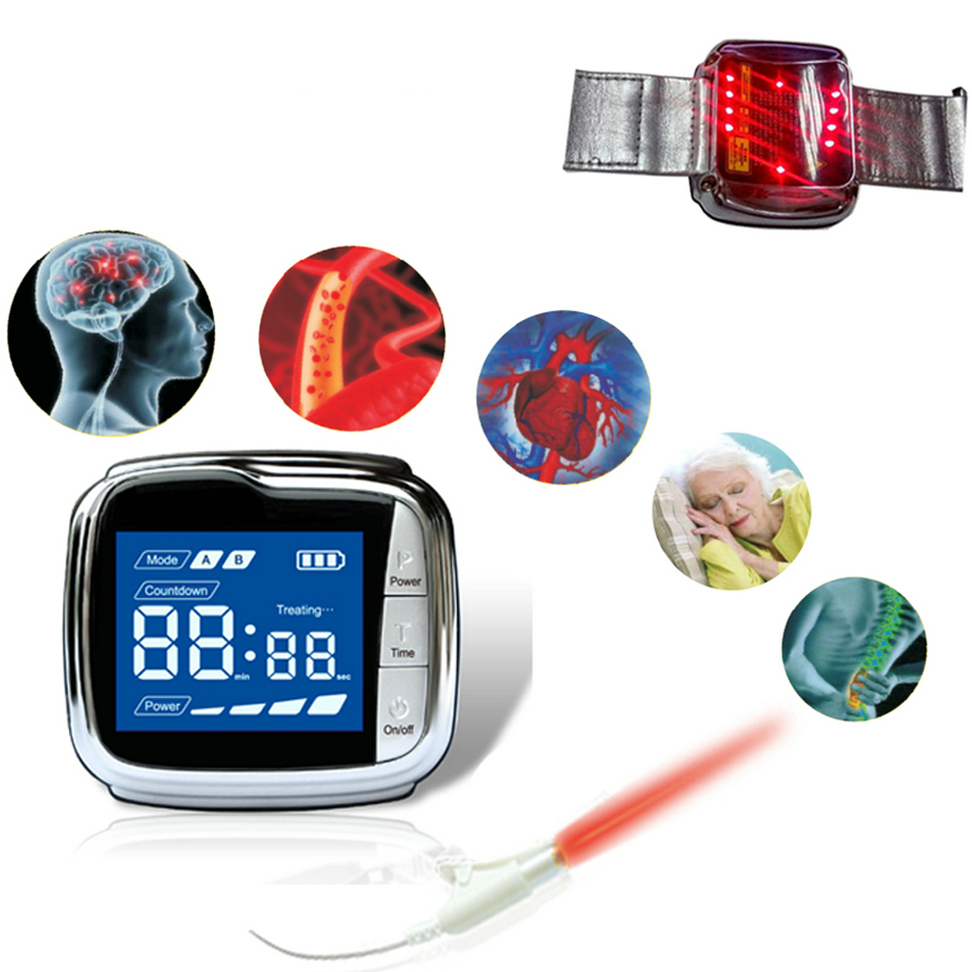 Laser Watch Therapy High Blood Pressure Laser Therapeutic Acupuncture Prevent Cardiovascular and Cerebrovascular Diseases