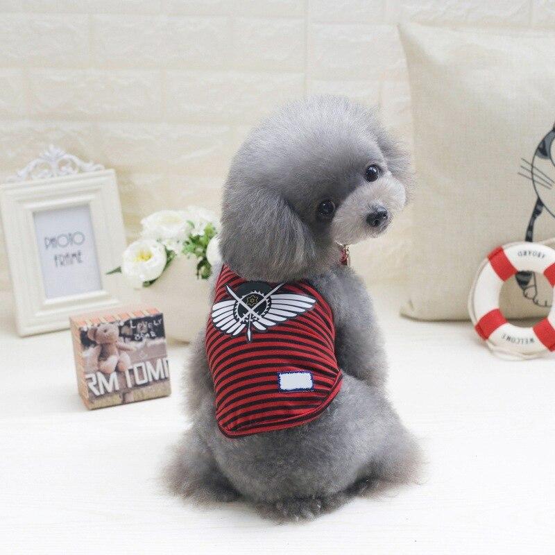 Одежда для собак, футболки для щенков, милые спортивные футбольные майки для кошек, полосатый жилет, весенние пальто для питомцев, жилеты для щенков