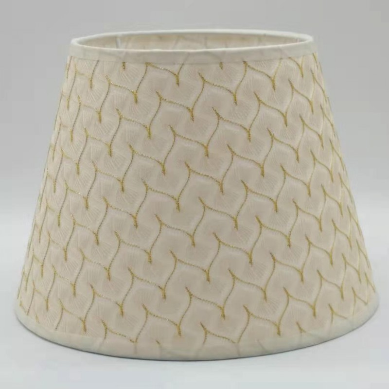E27 Round Fabric Beige Lampshade 25cm Nordic Lamp Shade For Table Lamp Modern Lamp Cover For Home Decoration