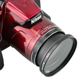 Image 3 - Filtrem UV i kaptur Cap pióro do czyszczenia dmuchawy powietrza pierścień pośredni do Nikona aparat Coolpix B700 B600 P610 P600 P530 P520 P510 kamery