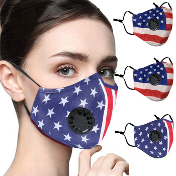 Face Mask With Flag Printed Reusable Facemasks Outdoor Mouth Mask Washable Gezichtsmasker Mouth Cover Adjustable Fabric Masks image