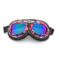 Óculos de Proteção da motocicleta Óculos de Proteção Óculos de Moto Clássico Retro Do Vintage Para Harley Óculos de Proteção UV