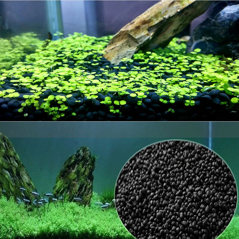 500g Fish Tank Fertility Substrate Sand Water Plant Soil Substrate Gravel Stones For Fish Tank Grass Weed Landscaping Decoration