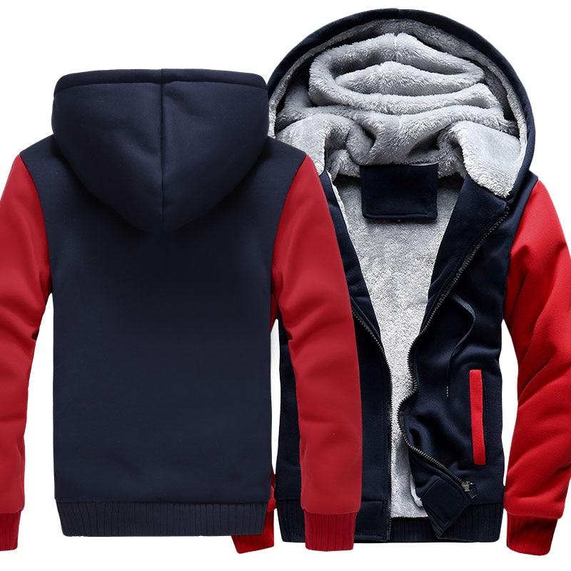 US Size For HD Logo Coat Zipper Hoodie Winter Fleece Unisex Thicken Jacket