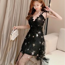 Malha sexy estilo cinta de espaguete vestidos fora do ombro moda nova marca v-neck clube de baixo corte vestido de festa à noite mulher verão