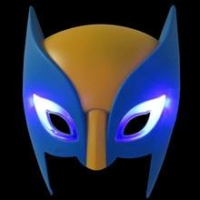 3pcs/lot LED Mask Super Hero Hulk/American Captain/Iron Man/Spiderman/Batman Crazy Rubber Party Halloween Thor Costume