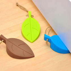 1 шт., силиконовый дверной ограничитель, креативный дизайн в виде листа