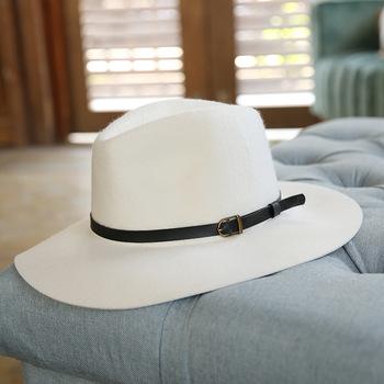 Kobiety 100 wełniane kapelusze filcowe białe szerokie rondo kapelusze na wesele kapelusze kościelne wieprzowina Pie mężczyźni kapelusz Fedora Floppy Derby Triby kapelusze tanie i dobre opinie beckyruiwu CN (pochodzenie) Unisex Z wełny Dla dorosłych LM251 Formalne Stałe