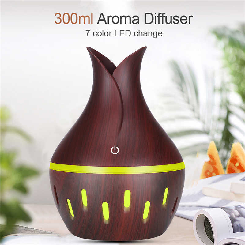 300ml USB AROMA Oil diffuser ไม้ไฟฟ้า Humidifier Ultrasonic Air Humidifier aromatherapy LED Mist Maker สำหรับ Home