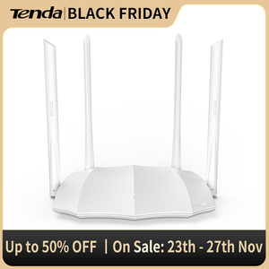 Tenda AC5S 1200Mbps Dual-Band Wireless WiFi Router, 1GHz CPU+128M DDR3,4*5dBi High Gain Antennas, Smart APP Remote Manag