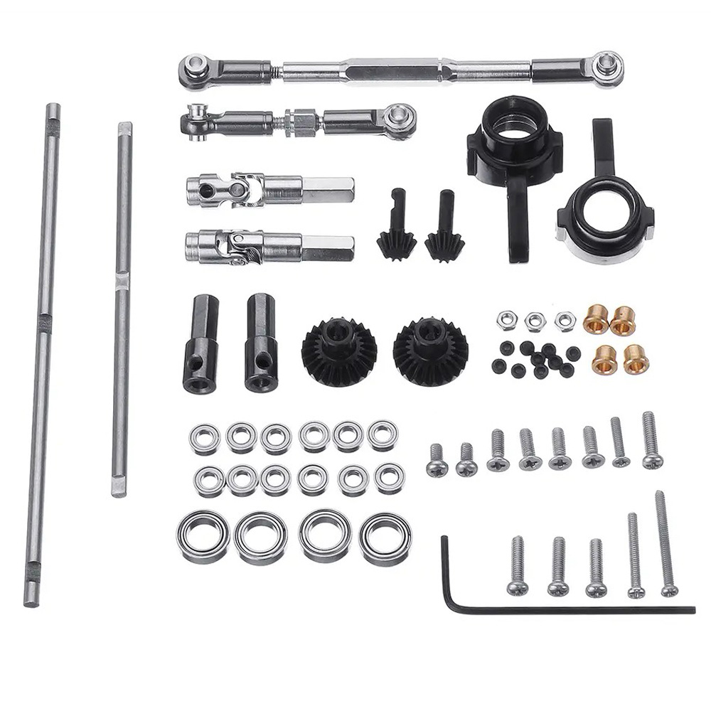 Upgrade Metal Gear Front Middle Rear Bridge Axle for 1/16 WPL C14 C24 B14 B24 Racing Truck RC Car Parts