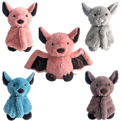 Creative Cartoon Bat Plush Toy Dark Elf Cute Bat Baby Soft Personality With Sleep Storytelling Plush Toy Gift For Children 2019