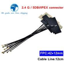 10 sztuk 2.4Ghz WIFI antena wewnętrzna FPC 5dBi IPX złącze IPEX Omni antena IEEE 802.11 b/g/n System WLAN