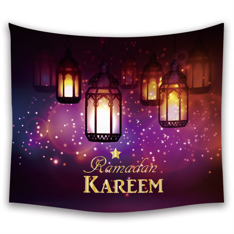 Ramadan Decorations Islam Decor Eid Decoration Printed Background Wall Tapestry Cloth Ramadan Mubarak Kareem Home Decoration