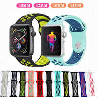 Silikon pulseira nato strap Für apple Uhr 4 band 42mm 38mm iwatch serie 44mm 40mm Atmungsaktiv handgelenk Armband apple uhr band