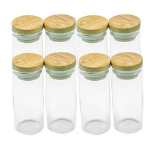 30x70mm Glass Bottles Bamboo Ornaments DIY Containers Sand Mini Multipurpose Bamboo Bottles For Accessories Packaging Gifts