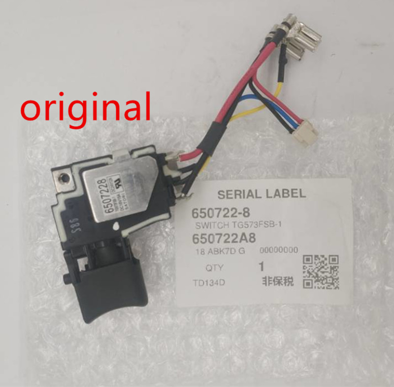 Genuine Switch 18V For Makita 650241-4 6502414 6507228 650722-8 Switch BTD134 BTD146 DTD146 BTD146Z BTD134Z TD134D Switch