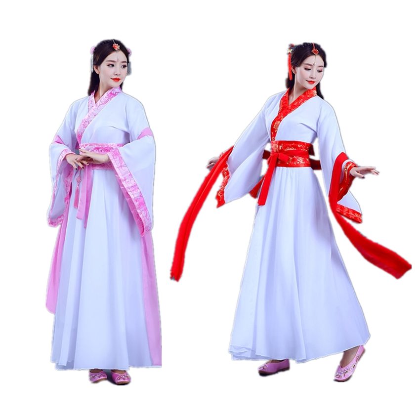 Woman Chinese Traditional Dress Ancient Folk Hanfu Oriental Retro Princess Tang Suit Fairy Party Performance Dance Costumes