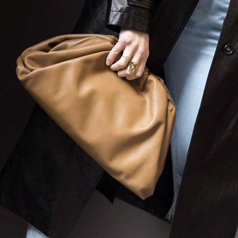 Femmes Simple Dumplings sac de messager concepteur rétro 2019 nouvelle mode nuage femme bandoulière sac à bandoulière marée sac à main pochette