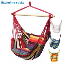 Portable Hammock Chair Canvas Bed Hammocks Garden Swing Hanging Leisure Lazy Rope Chair Swing Indoor Bedroom Seat Camping cheap CN(Origin) Outdoor Furniture