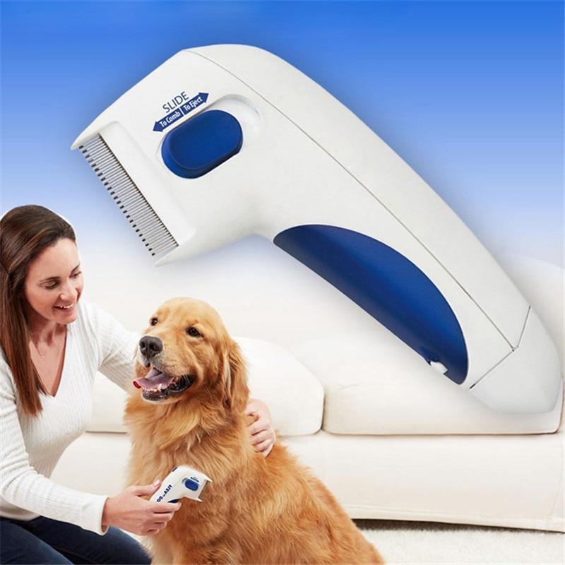 Электрическая щетка-терморегулятор для кошек и собак, щетка-терморегулятор для удаления вшей, Электронная Щетка для собак