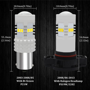 Image 2 - CANBUS No Error White H16 5202 PS19W PSY24W P21W LED Bulbs For AUDI A3 8P Sportback LED DRL Daytime Running lights 2003 2013