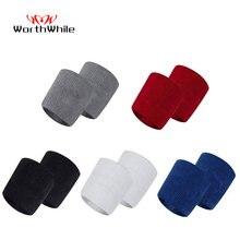 Lohnende Baumwolle Elastische Armband Unterstützung Basketball Handgelenk Klammer Wraps für Männer Gym Fitness Gewichtheben Powerlifting Tennis