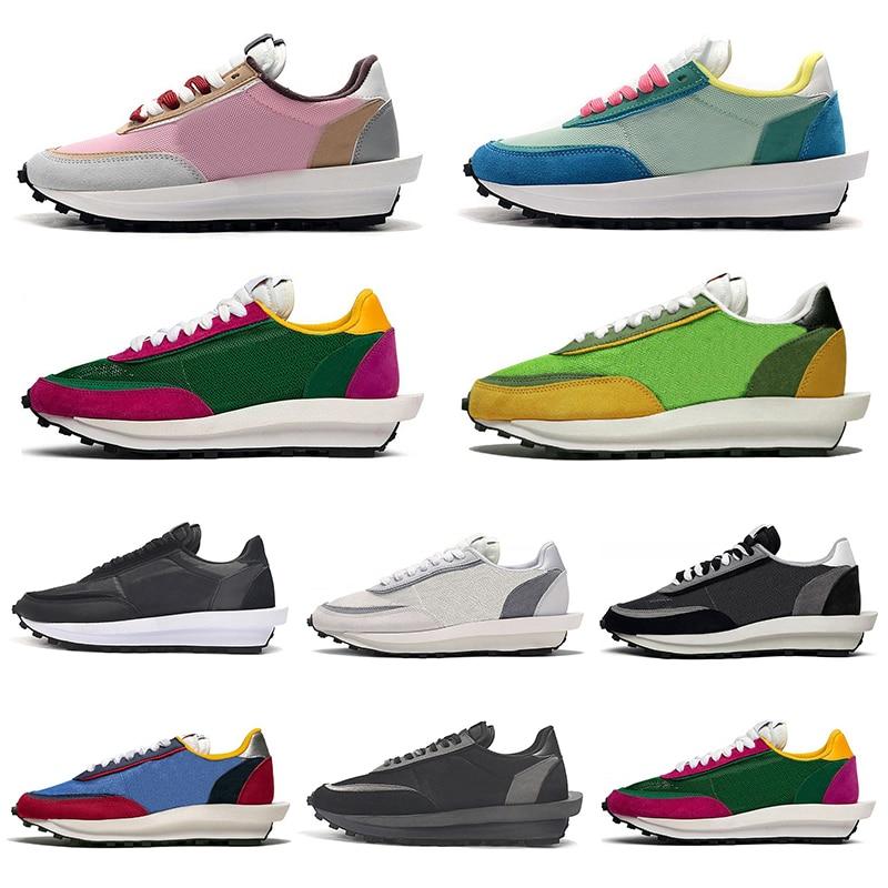 2020 Cheap Sacai Ldv Ld Waffle Men Women Running Shoes Black White Gray Pine Green Gusto Varsity Blue Men Trainers Sport Sneakin