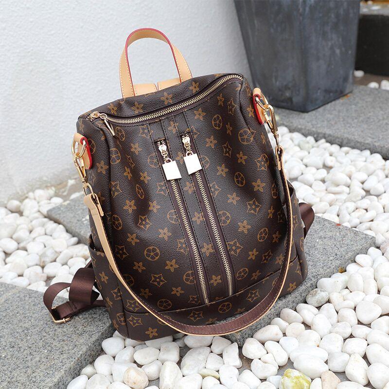 Vento Marea Women Backpacks Shoulder Bag Leather Female Vintage Large Daypack 2019 Multi-function Luxury Travel Satchel Knapsack