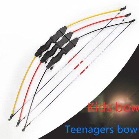 cor criancas arco com 2 3 pcs seta criancas arco takedown arco para jogo de
