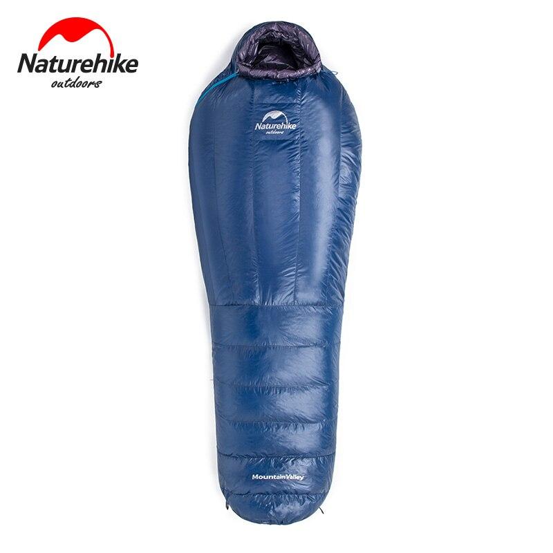 Naturehike Leichte Einzigen Winter Gans Unten Kompakte Camping Schlafsack Wasserdicht Kalt Wetter Mummy Wandern Schlafsack
