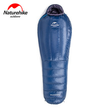 Naturehike Lightweight Single Winter Goose Down Compact Camping Sleeping Bag Waterproof Cold Weather Hiking Mummy