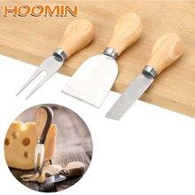 HOOMIN 3 шт./компл. сырорезка наборы нож с деревянной ручкой набор столовые приборы для сыра кухонные принадлежности
