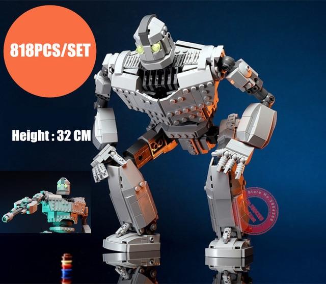 New MOC Robot The Iron Robot Fit Legoings Technic Figures Voltron Giant Model Building Blocks Bricks Kids Toys Boy Gift Birthday