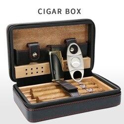 Boîte de rangement Portable pour cigares | Boîte de rangement intégrée dans une cave à cigares noire, anti-poussière, étanche aux chocs et aux chocs, cadeau