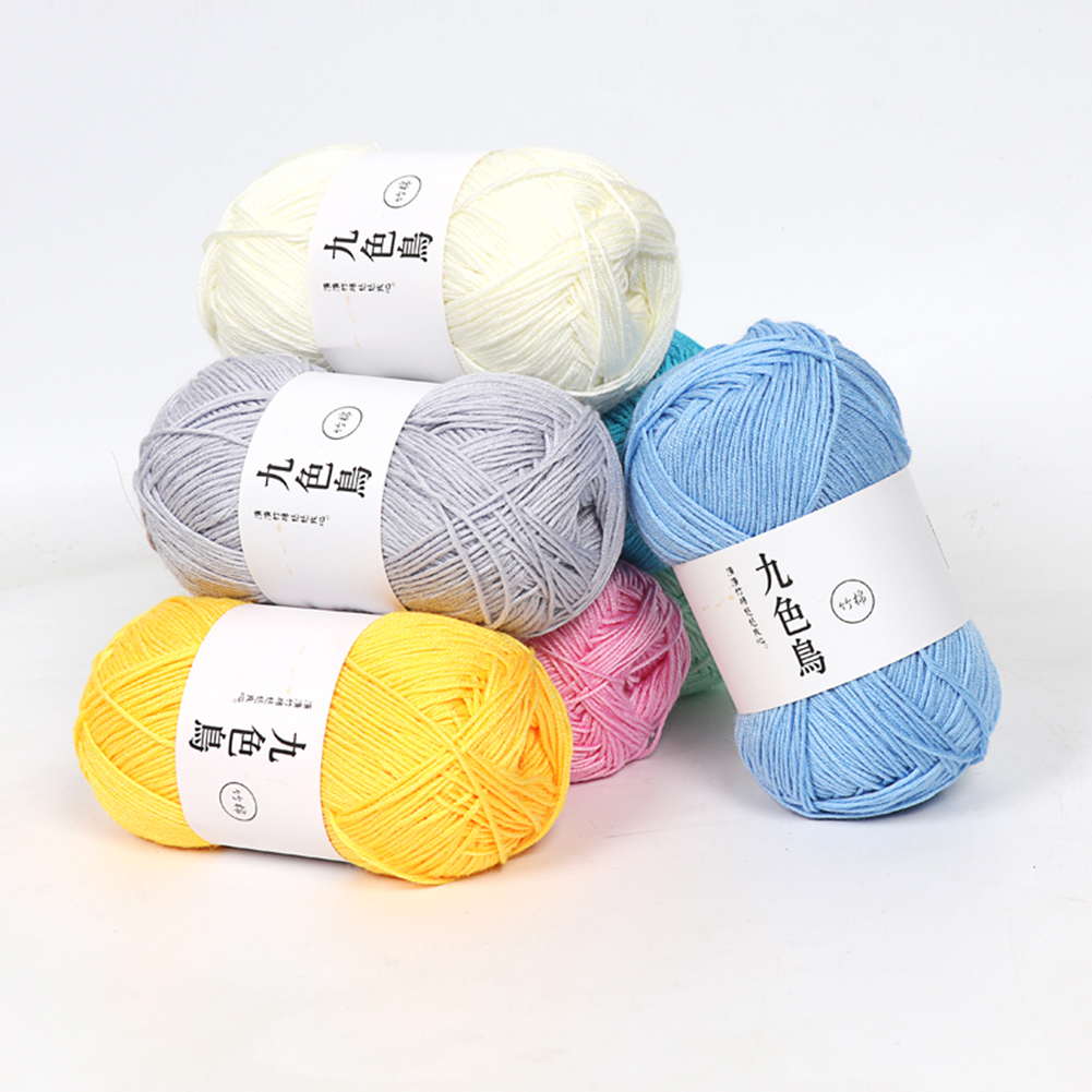 Knitting Scarf Tencel Bamboo Cotton Rope DIY Six Strands Cotton Rope Crochet Thread Twine Apparel Sweater Sewing Tool
