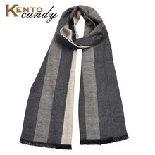 Kentocandy Luxury Winter Scarf Men Premium Cashmere Feel Elegant Gray Unique Design cotton scarf bufanda hombre male scarves