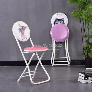 Cadeira dobrável do vintage com as costas simples portátil folden pequeno banco mobiliário da sala de estar do agregado familiar fezes criativas