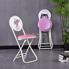 Silla plegable Vintage con respaldo, banco pequeño plegable Simple portátil, muebles de sala de estar para el hogar, taburetes creativos