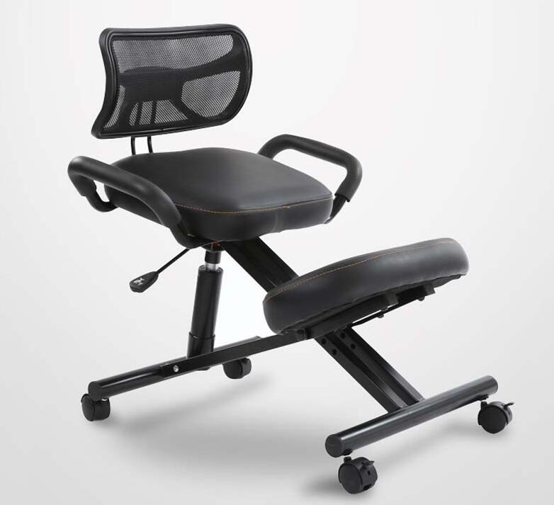 Ergonomsko oblikovan kolenski stol s hrbtnim in ročajem Pisarniški - Pohištvo - Fotografija 3
