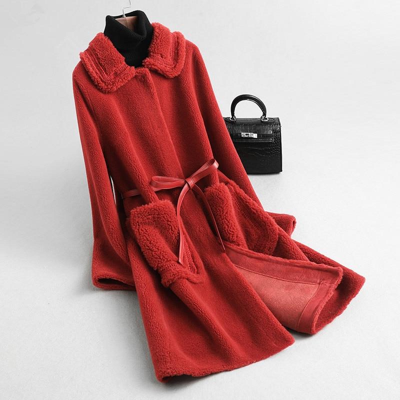 Coat Fur Real Female Jacket 2020 Winter Jacket Women Real Wool Coats And Jackets Women Kroean Outwear Chaqueta Mujer My S S