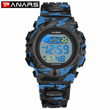 PANARS Fashion Kids Watches Sports Children's Watch LED Colo