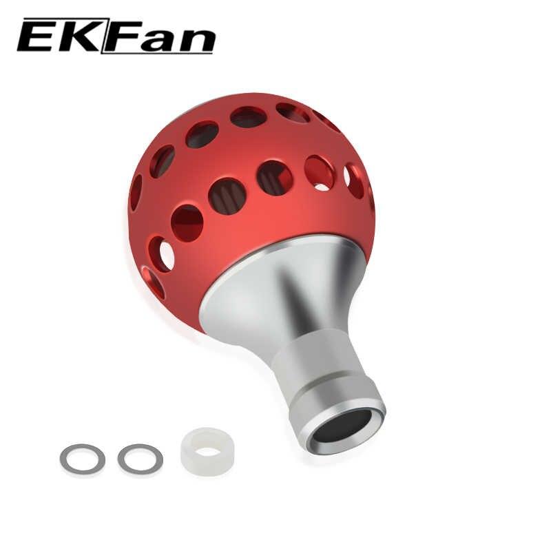 EKFan di Alluminio di Aeronautica 800-3000 Serie Biatcasting Bobina di Filatura di Pesca Maniglia Manopola Attrezzatura Da Pesca Strumento