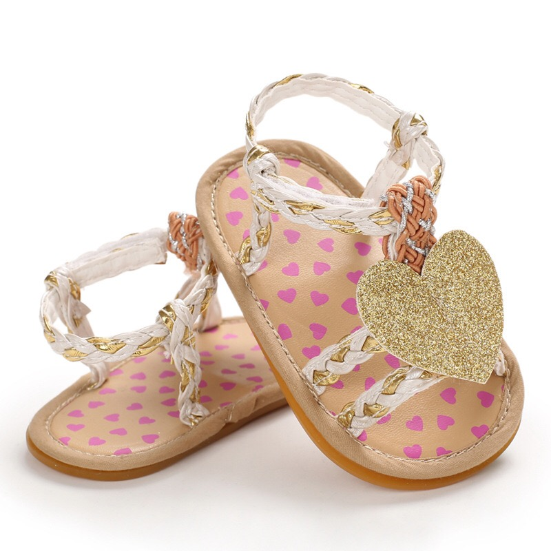 2020 Children Summer Clogs 0-18M Newborn Infant Baby Girl Princess Weave Sandals Sneakers Toddler Soft Crib Walkers Shoes