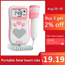Fetal Dopler hand-hold portable fetal doppler sound Baby heart pregnancy Ultrasound fetus doppler Detector machine monitor недорого