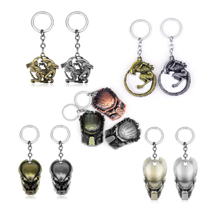 Alien Keychain Predator Mask Backpack movie Key Chain Ring Holder Men Women Gift Jewelry Wholesale Trinket